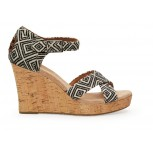 TOMS Woven Diamond Strappy Wedges - Women's