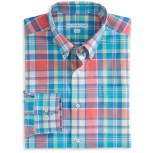 Southern Tide Full Throttle Plaid Sport Shirt - Men's
