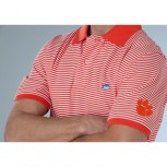 Southern Tide Skipjack Collegiate Striped Polo - Clemson University