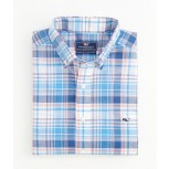 Vineyard Vines Deep Sea Madras Tucker Shirt - Men's